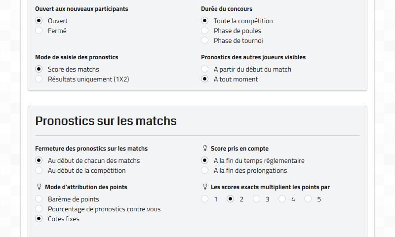 PronoContest ⚽🏆 - Sporting predictions contests
